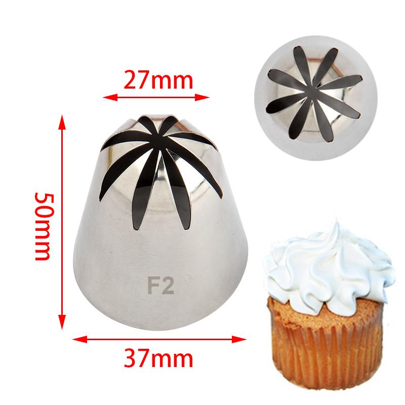 S/S Cake Decorating 8 Teeth Closed Star Nozzle #F2