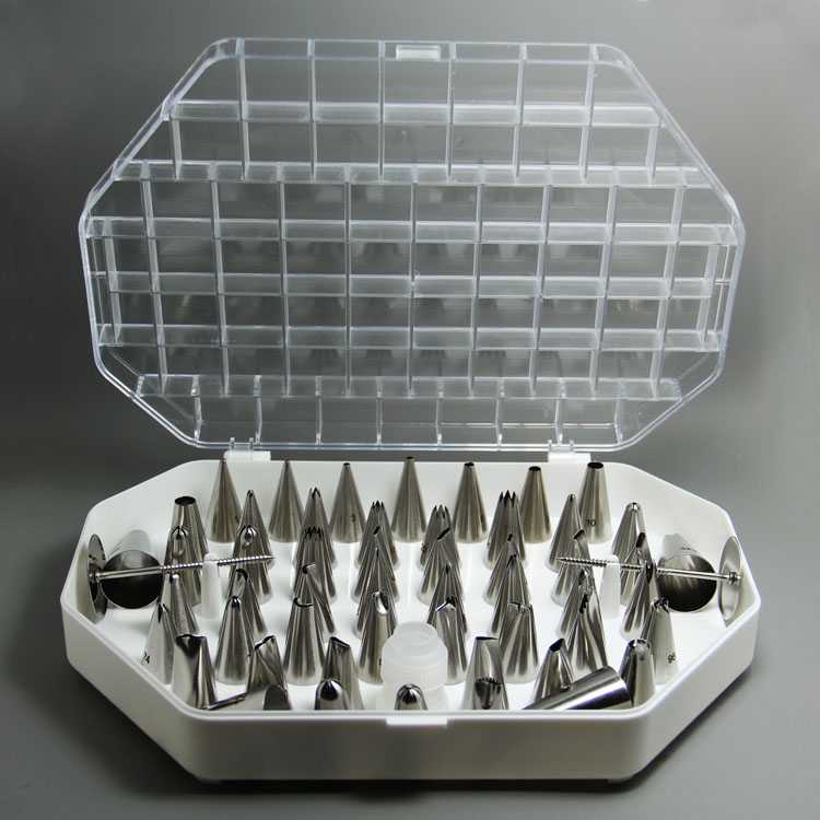 HB0225N 55pcs different cake decorating nozzles set in new design box