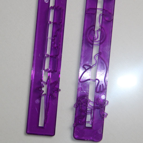 HB0455 Plastic Christmas Theme Decoration Fondant Rule Mold