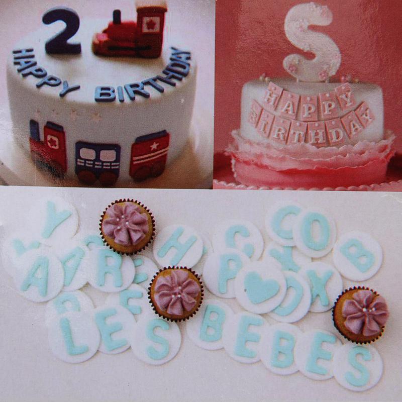HB0568A New 88pcs Plastic Alphabet Letter Symbol Number Cookie Stamp Press Cake Cutters Set