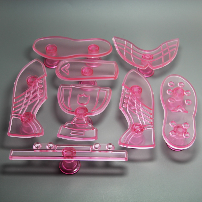 HB0622 Plastic Soccer Boot&Trophy Press Mold cake stamp fondant embosser