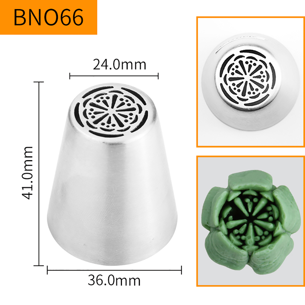 HBBNO66 FDA High Quality Stainless steel 304 Cake Decorating Flower Icing Nozzle