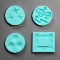 HB0778 4pcs photo frame silicone mold for cake fondant decorating
