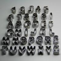 HB0689 New stainless steel 26pcs Alphabet&10pcs Nubmer cookie cutter set