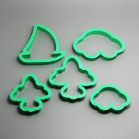 HB0197   Plastic 5pcs Vehicle shape cookie cutter set