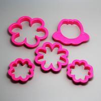 HB0206 5pcs Plastic Pretty Flower shape cookie cutters set