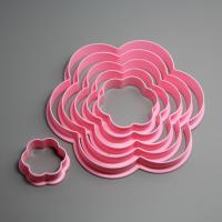 HB0209 6pcs Plastic Plum shape cookie cutter set gum paste cutter cake decoration set