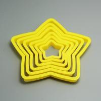 HB0210 6pcs Plastic star shape cookie cutter set cake chocolate decoration set