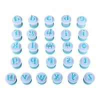 HB0215A New Plastic 26pcs Lowercase Cake Fondant Press Cutters set