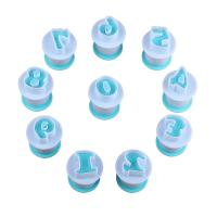 HB0216A New Plastic 10pcs Numbers Cake Fondant Press Cutters set