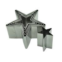 HB0295 7pcs star shape cutters with plain edge cookie cutters set