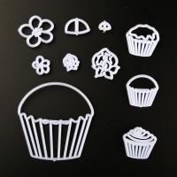 HB0311F Plastic Cupcake Shape Press molds set