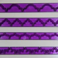HB0401 4pcs Plastic moire ruler cutter mold set