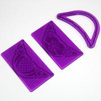 HB0404 3pcs plastic flower shape cutter mold set