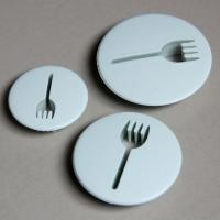 HB0467 Plastic 3 pcs Fork Shape Press Cookie Cutter