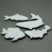 HB0563 Plastic 4pcs Fabulous Fish Press Cake Fondant Mold set