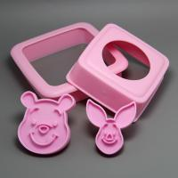 HB0605 Little Bear&Pig Shape Sandwich Stamp/mold Set chocolate mold