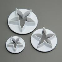 HB0630 5 Petal Flowers Gum Paste Mold 3 pcs set