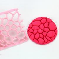 HB0687D  Plastic Diamond Leopard Pattern Shaped Biscuit Molds Icing Embosser Stencil Mould