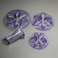 HB0756 Plastic 4pcs daisy shaped cake fondant mold set