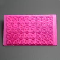HB0769 Plastic Geometry printed quilt fondant cake decoration embosser