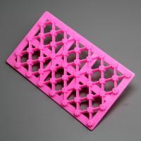 HB0772 Plastic Mini petal decorating crossed  quilt fondant cake decoration embosser