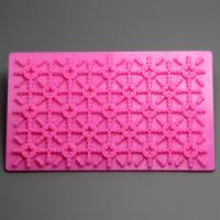 HB0774 Plastic star crossed flower patterned quilt fondant cake decoration embosser