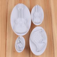 HB1042 4pcs Musical instruments cookie plunger cutter set