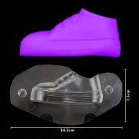 HB1059D Plastic Transparent Flattie Shape Chocolate Mould