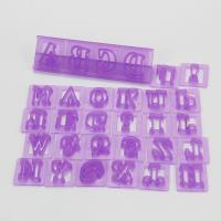 HB1060H New Plastic 3D 26 Letters Fondant Cake Cutters Stamps set