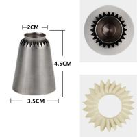 HBR002 New Design Stainless Steel Sultane Cookie Icing Nozzle